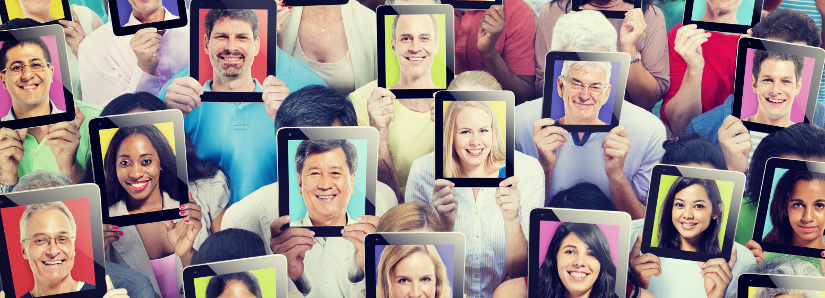 Diversity of People Digital Communication Technology Concept