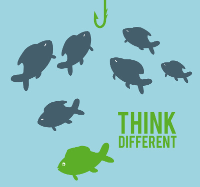 think different design, vector illustration eps10 graphic