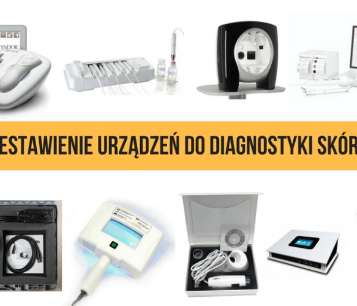 Zestawienie urządzeń do diagnostyki skóry